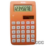 ROYAL X2 8 DIGIT DUAL - POWER HANDHELD CALC, X2