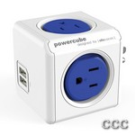 POWERCUBE 4220BL BLUE - USB 4 OUTLET POWER STRIP, 4220BL