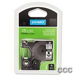 DYMO D1 FLEXIBLE LABELS - BLACK/WHITE 1/2