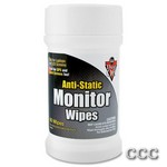 DUST-OFF ANTI-STATIC - 80CT MONITOR/LCD WIPES, DSCT