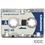 GRUNDIG GGM4500 MC-45 - MICROCASSETTE TAPES 3PK, GGM4500