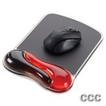 KENSINGTON K62402AM RED - DUO GEL WAVE MOUSE PAD, K62402AM
