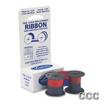LATHEM 2000/4000 - RED/BLUE CLOCK RIBBON, 72CN