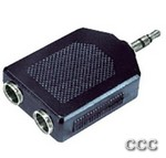 MCM 27-020 3.5MM FEMALE - TO MALE STEREO Y ADAPTER, 27-020