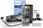 PHILIPS POCKET MEMO PUSH - BUTTON W/TRANSCRIBE SET, DPM6700