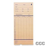 PYRAMID 42415  100PK - ATTENDANCE TIME CARDS, 42415