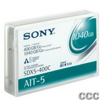 SONY 8MM AIT-5 W/MIC - LQ-400/1040GB DATA TAPE, SDX5-400C