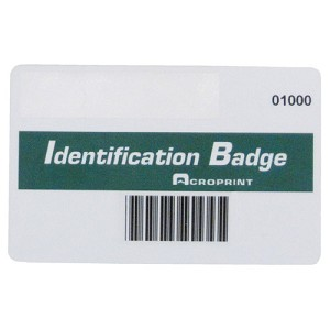 ACRO 14-0128-001 - BX/15 BARCODE BADGES, BARBADGE