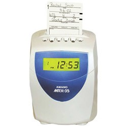 AMANO MRX-35 ELECTRONIC - CALCULATING TIME CLOCK, MRX35