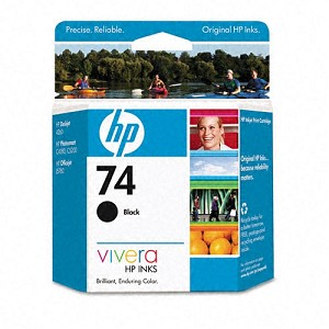 HP OFFICEJET J5740 - #74 SD BLACK INK, CB335WN