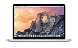 Apple 15 Inch MacBook Pro Laptop (Retina Display, 2.2GHz Intel Core i7, 16GB RAM, 256GB Hard Drive, Intel Iris Pro Graphics) Silver, Mid 2015